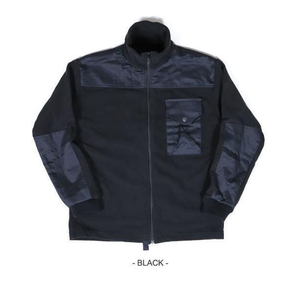 カナダ軍IECS(改良型環境服装システム)フリースジャケットレプリカ ブラック XL