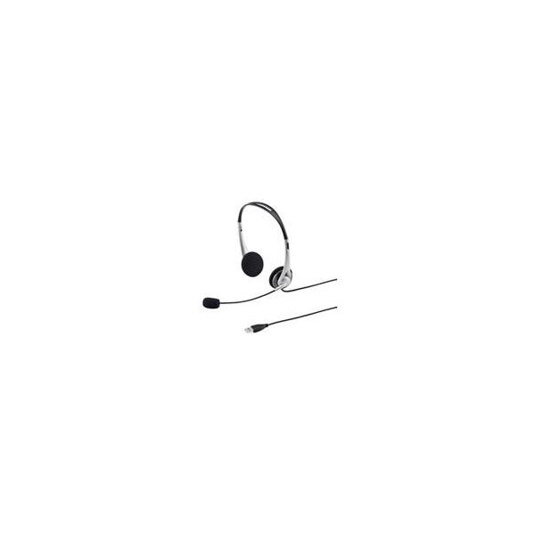 サンワサプライ USBヘッドセット(シルバー) MM-HSUSB16SV