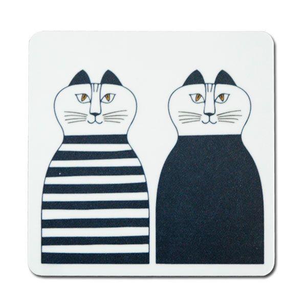 木製コースター Minmi(ミンミ)Lisa Larson(リサラーソン)opto design 北欧雑貨