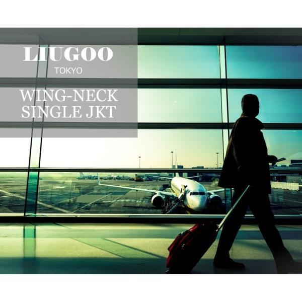 LIUGOO 本革 襟ボアハイネックシングルジャケット  メンズ リューグー WNG02B  レザージャケット ライダースジャケット AP|liugoo|02