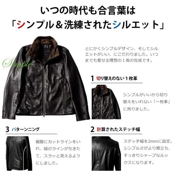 LIUGOO 本革 襟ボアハイネックシングルジャケット  メンズ リューグー WNG02B  レザージャケット ライダースジャケット AP|liugoo|06