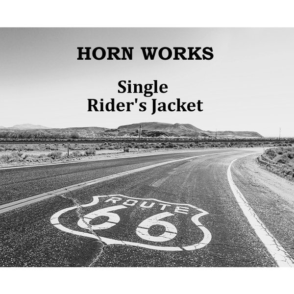 Horn Works 本革 シングルライダースジャケット メンズ ホーンワークス 4762  レザージャケット バイカージャケット|liugoo|02