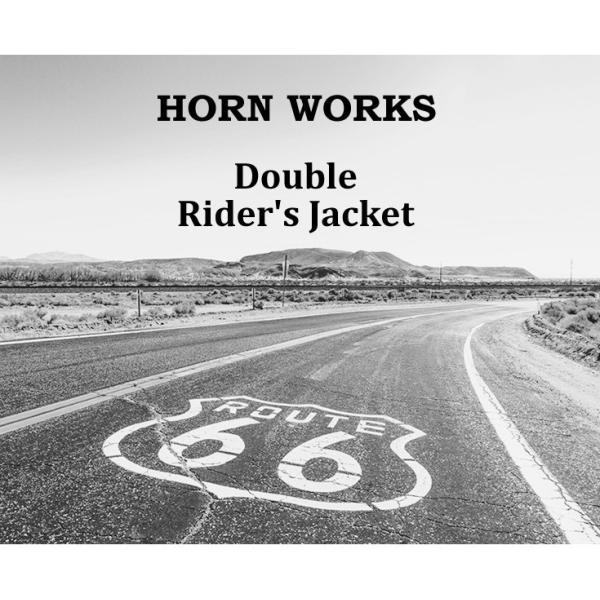 Horn Works 本革 襟ボアダブルライダースジャケット メンズ ホーンワークス 4768  レザージャケット ワンスター バイカー|liugoo|02