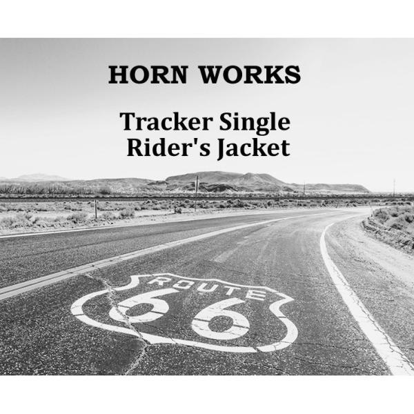 Horn Works 本革 襟付きシングルライダースジャケット メンズ ホーンワークス 4766|liugoo|02