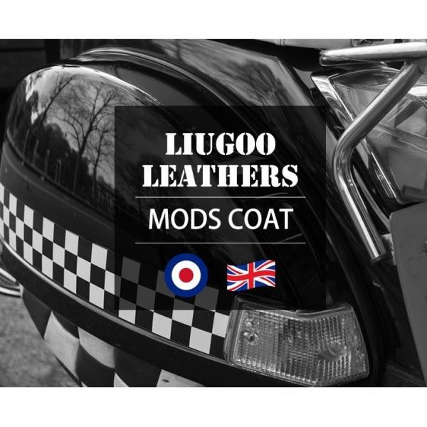 Liugoo Leathers 本革 レザーM-51モッズコート メンズ リューグーレザーズ COT05A  レザージャケット ビジネスコート AP|liugoo|02