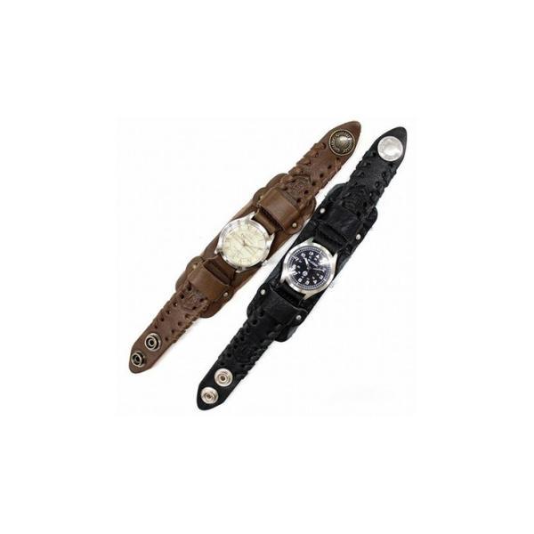 adaeae0959 ... 2WAYサイドレザー巻きウォッチ メンズ 本革 quitter QTW035BK 腕時計 ウォッチ 革ジャン・革製品 ...
