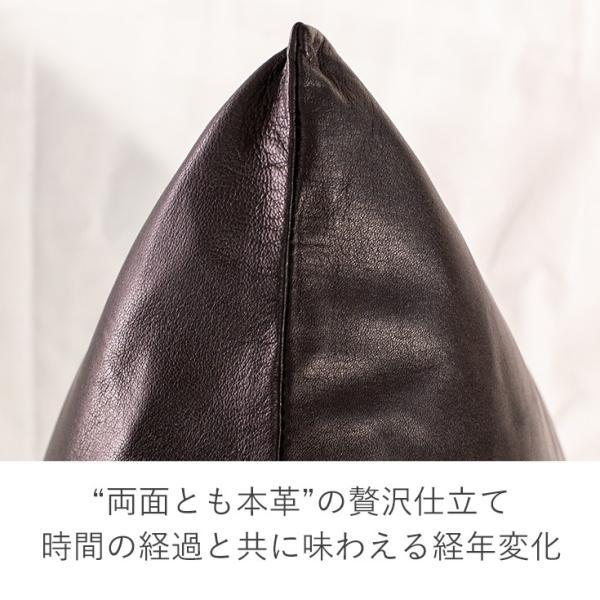 LIUGOO 本革 クッションカバー 男女兼用 リューグー ITG01A   クッション カウチ ソファー 角型 四角|liugoo|04