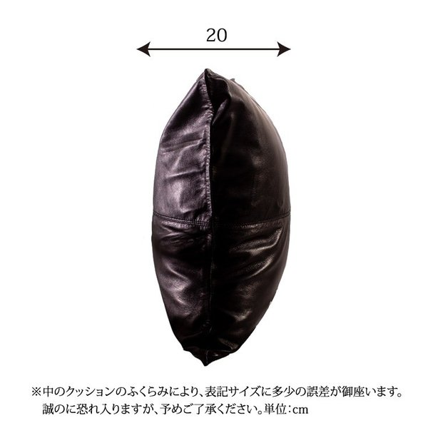 LIUGOO 本革 クッションカバー 男女兼用 リューグー ITG02A  クッション カウチ ソファー 角型 四角|liugoo|19