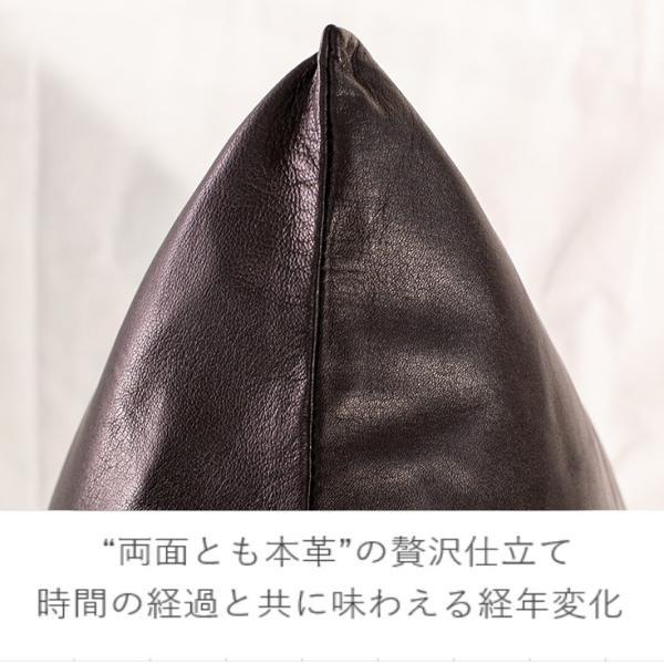LIUGOO 本革 クッションカバー 男女兼用 リューグー ITG02A  クッション カウチ ソファー 角型 四角|liugoo|05