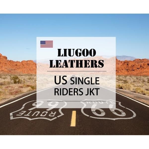 Liugoo Leathers 本革 シングルライダースジャケット メンズ リューグーレザーズ SRS01A  レザージャケット バイカージャケット AP|liugoo|02
