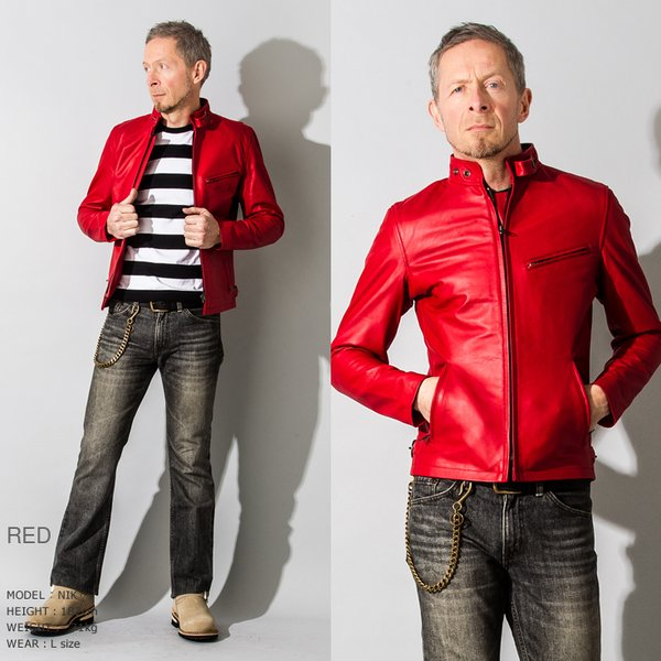 Liugoo Leathers 本革 シングルライダースジャケット メンズ リューグーレザーズ SRS01A  レザージャケット バイカージャケット AP|liugoo|13