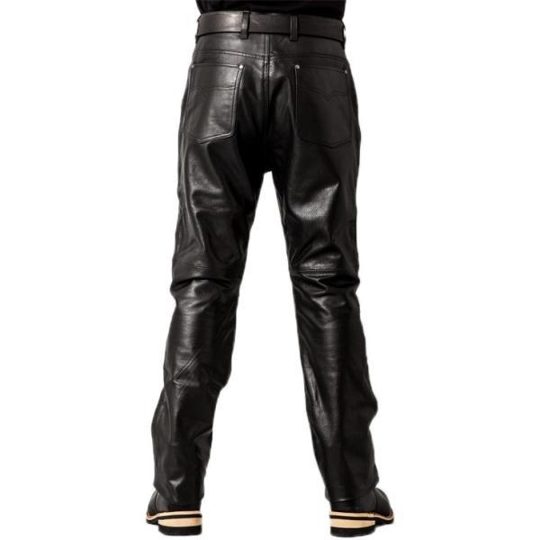 Liugoo Leathers 本革 メッシュレザーパンツ レギュラーフィット メンズ リューグーレザーズ STP04B  レザーパンツ 本革パンツ 本皮パンツ ライダースパンツ 黒|liugoo|16