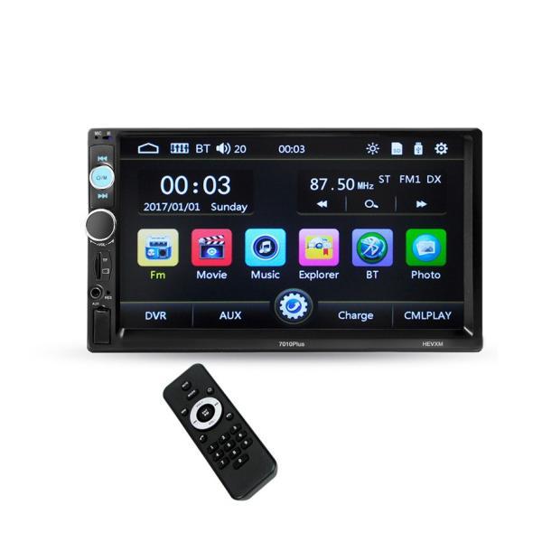 カーオーディオ 2DIN 7インチ MP5プレーヤー Bluetooth 12V AUX FM MP3 MP4 USB Micro SDカード対応 タッチパネル 2din 表示色7色  リモコン付|livekurashi|11