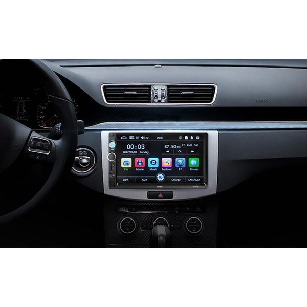 カーオーディオ 2DIN 7インチ MP5プレーヤー Bluetooth 12V AUX FM MP3 MP4 USB Micro SDカード対応 タッチパネル 2din 表示色7色  リモコン付|livekurashi|04