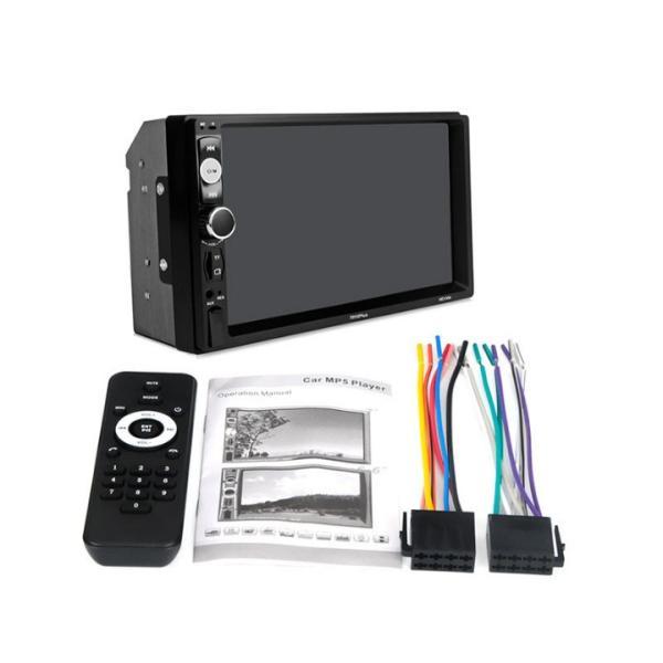 カーオーディオ 2DIN 7インチ MP5プレーヤー Bluetooth 12V AUX FM MP3 MP4 USB Micro SDカード対応 タッチパネル 2din 表示色7色  リモコン付|livekurashi|08