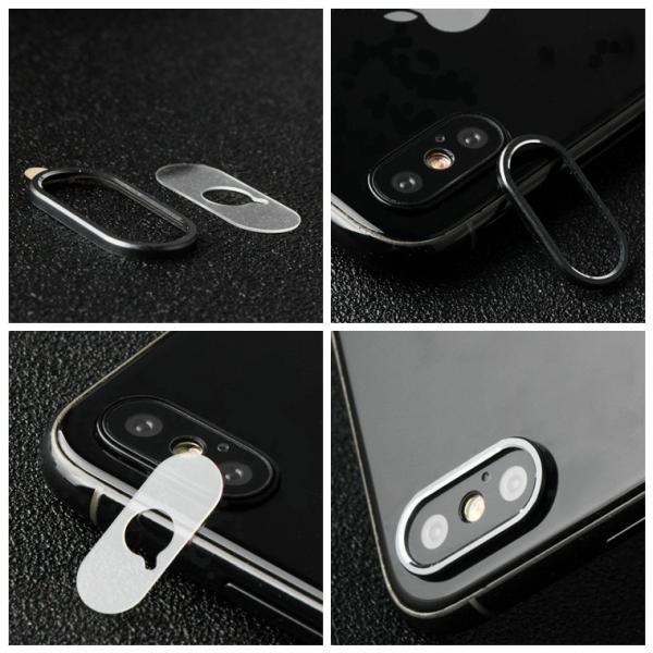 レンズ保護リング+カメラ保護フィルム セット iPhone XS カメラ用ガラスフィルム iPhone XS Max カメラリング 全面 アイフォン テン 強化ガラス|livelylife|03
