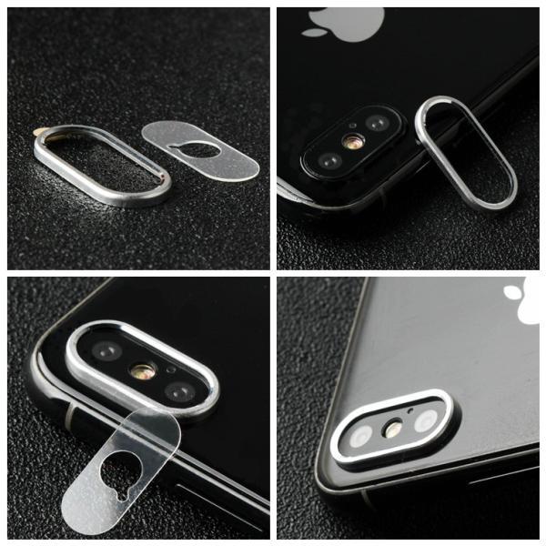 レンズ保護リング+カメラ保護フィルム セット iPhone XS カメラ用ガラスフィルム iPhone XS Max カメラリング 全面 アイフォン テン 強化ガラス|livelylife|05