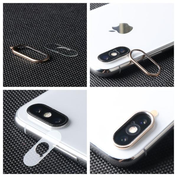 レンズ保護リング+カメラ保護フィルム セット iPhone XS カメラ用ガラスフィルム iPhone XS Max カメラリング 全面 アイフォン テン 強化ガラス|livelylife|08