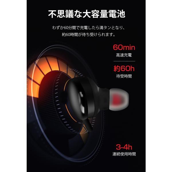 Bluetooth 5.0 ワイヤレス イヤホン 両耳 ワイヤレスイヤホン 高音質 Bluetooth5.0 コードレスイヤホン iPhone 防水 スポーツ タッチ型 Android 対応 送料無料|livelylife|08