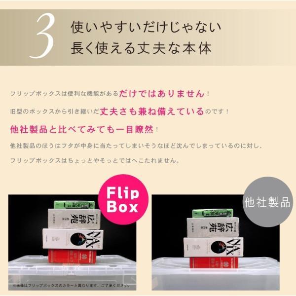 数量限定 収納ボックス フタ付き プラスチック フリップボックスL66|livewell|09