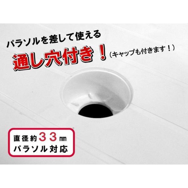 ガーデンテーブル プラスチック カフェテーブル900(丸)|livewell|03