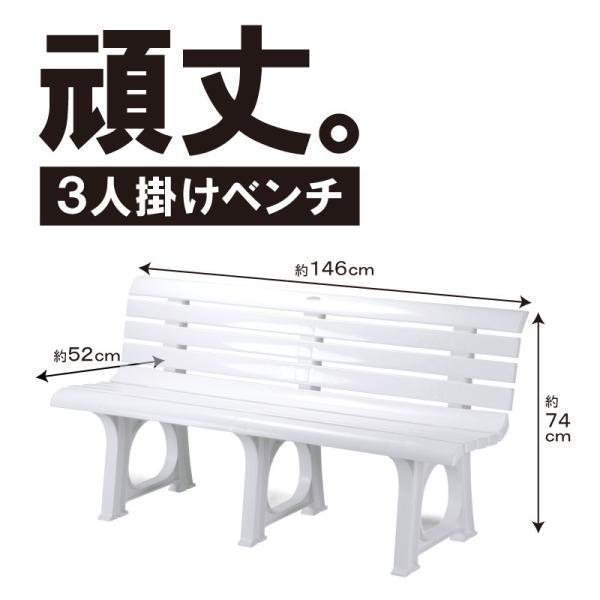 ガーデンベンチ プラスチック 頑丈 ホリデーランドLベンチ|livewell|02