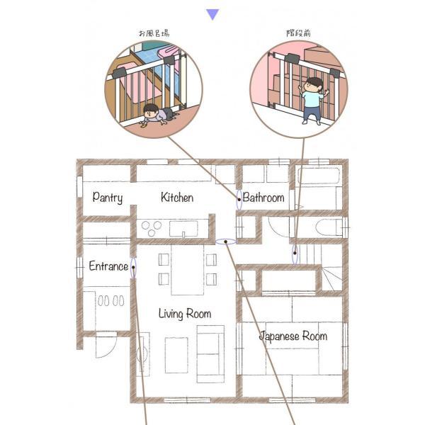 ベビーゲート 拡張型 最大115cm ベビーゲイト ベビーサークル スイングドア|livhouse|06