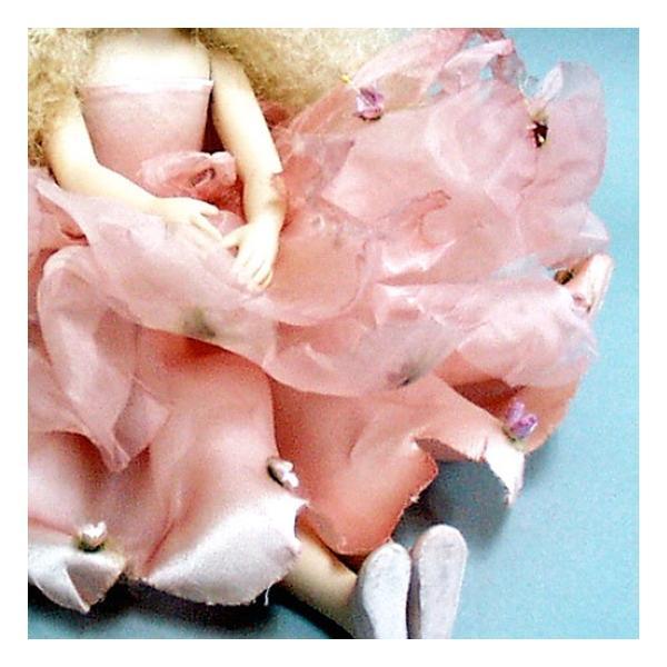 若月まり子作品 エルフィンフローリー フローラ(ピンク)エルフィンフローリー 創作人形(ビスクドール)a-028-1|livingts|04