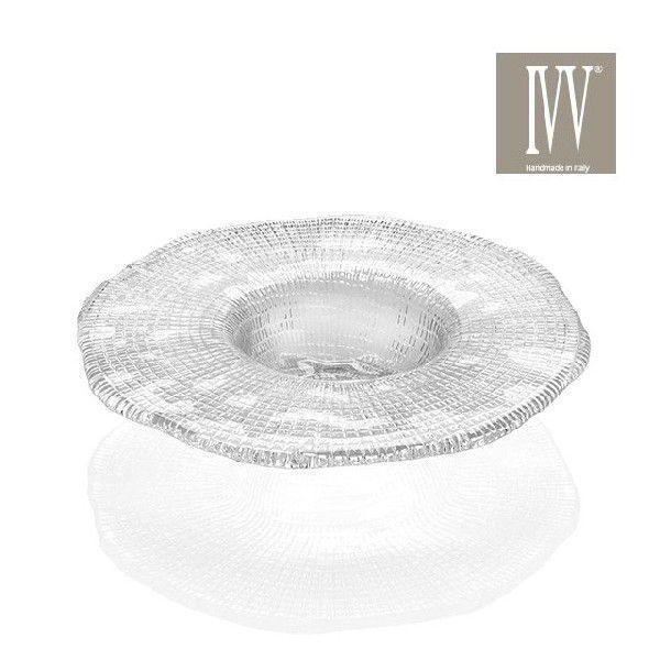 IVV イタリア製 皿 ガラス皿 Diamante ディアマンテ クリア 21cmプレート6691_1|livingts