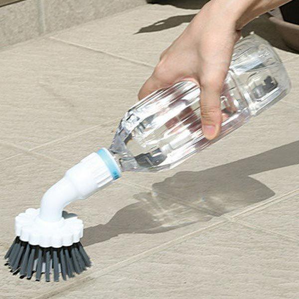 ペットボトルブラシ 玄関用 ( 掃除 ブラシ 簡易ブラシ 溝ブラシ 壁 タイル )