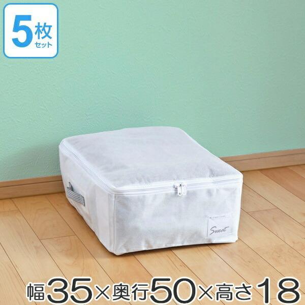 衣類整理袋 すきま収納 衣類用 幅35×奥行50×高さ18cm 5枚セット クローゼット収納 ( 衣類 収納 収納ケース )