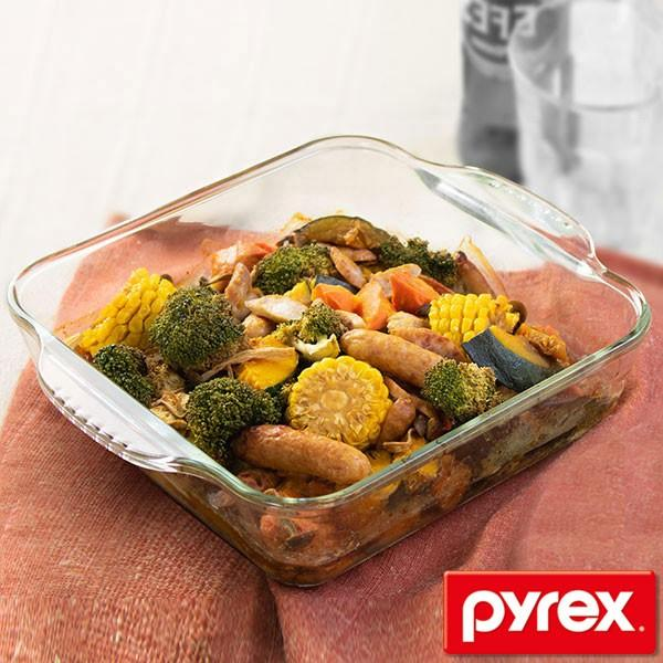 グラタン皿 大皿 26cm パイレックス Pyrex スクエア 耐熱ガラス オーブンウェア ディッシュ 皿 食器 ( 耐熱 ガラス 大 角型 ラザニア グラタン 製菓 )