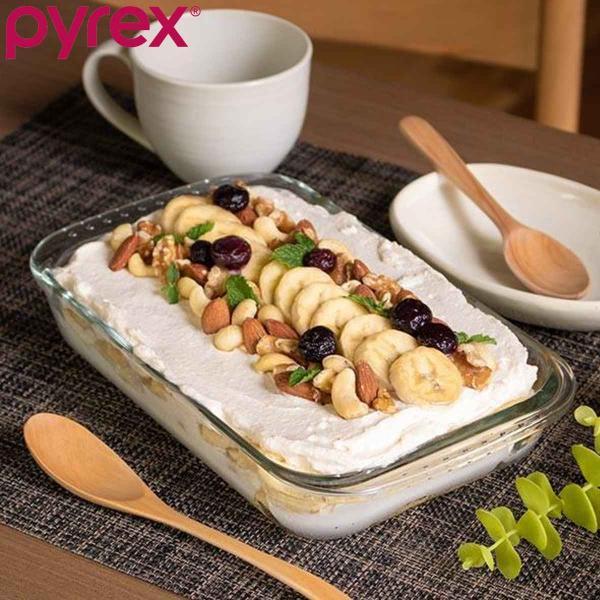 グラタン皿 大皿 22cm パイレックス Pyrex レクタングル 耐熱ガラス オーブンウェア ディッシュ 皿 食器 ( 耐熱 ガラス 大 角型 ラザニア グラタン 製菓 )