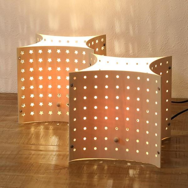 照明LEDパンチングテーブルランプテーブルライト(照明器具卓上ライトスタンドライト)
