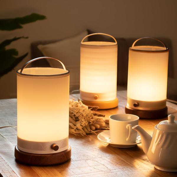 照明 テーブルランプ 無段階調光 天然木 ローブ スタンドライト ( ライト 間接照明 テーブルライト )