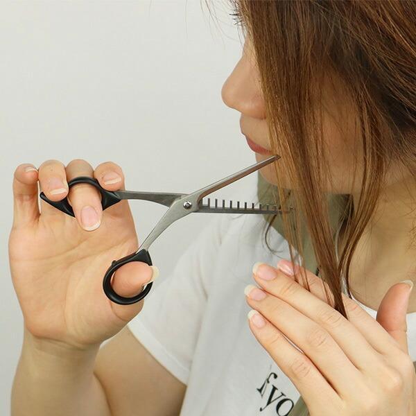 ハサミ 髪 ステンレス製シャギーはさみ 15〜20% 日本製 ( ヘアカットハサミ ヘアカット 散髪ハサミ )