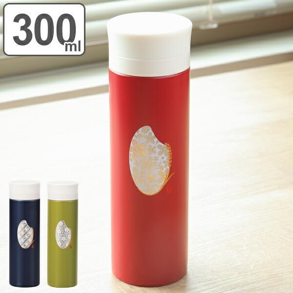 水筒 ステンレス 直飲み マグボトル 米もん 300ml 軽量 ( ステンレスボトル 保温 保冷 和柄 スリムボトル )