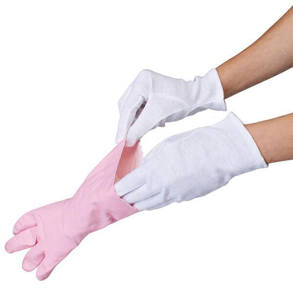 薄型インナーコットン手袋8枚入 アンダー手袋 乾燥対策 ガーデニング ( 手袋 薄型手袋 白手袋 )