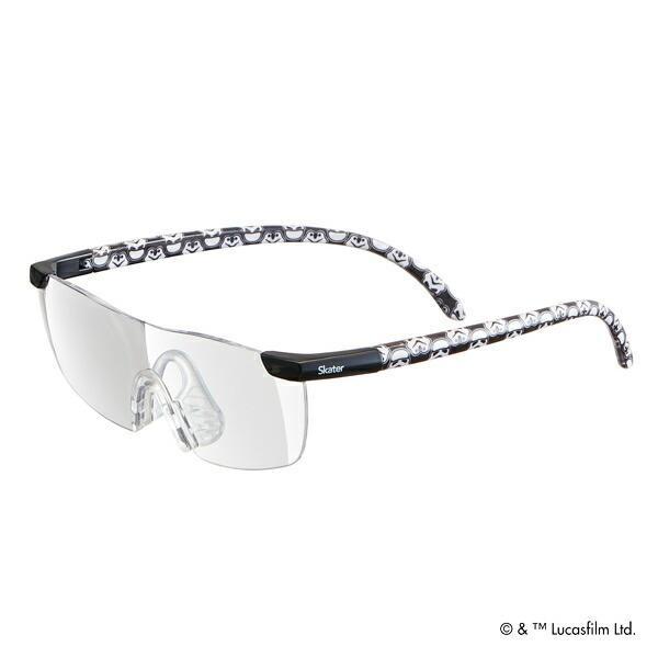 ルーペグラス スターウォーズ 拡大鏡 眼鏡 キャラクター ( ルーペ メガネの上から 1.6倍 読書 拡大 メガネ型 ストームトルーパー )