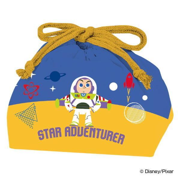 ランチバッグ 巾着袋 弁当袋 トイ・ストーリー SPACE MOON 子供 ( トイストーリー バズ ランチ巾着 お弁当入れ )