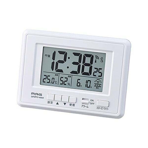 置き時計 掛け時計 電波 デジタル 電波時計 温度計 湿度計 目覚まし時計 ケプラー ( 時計 多機能 ライト付き おしゃれ )