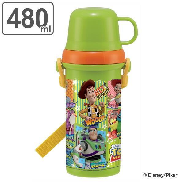 水筒 2way 直飲みコップ プラスチック トイ・ストーリー 480ml 子供 ( トイストーリー 食洗機対応 直のみ すいとう キッズ 肩 ショルダー ベルト )