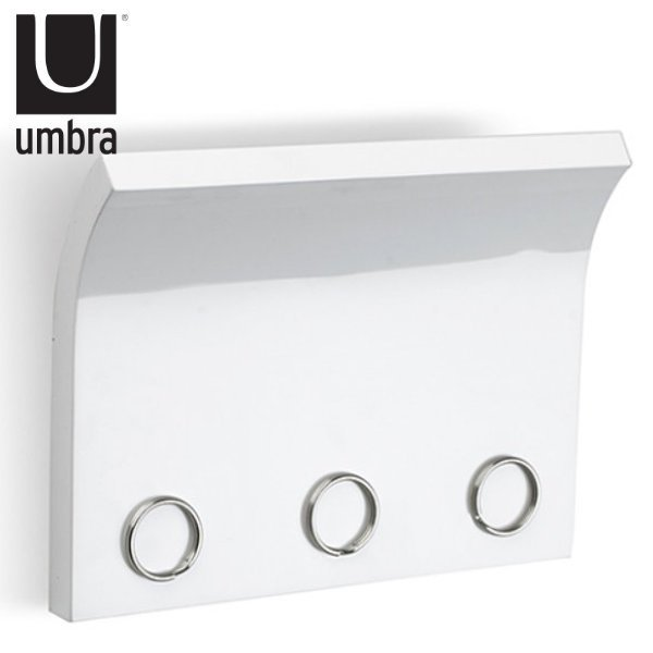umbra アンブラ キーフック マグネットキーパネル マグネット 壁 ( ネジ固定タイプ 磁石 鍵掛け 鍵収納 玄関収納 ドア 鍵 収納 )