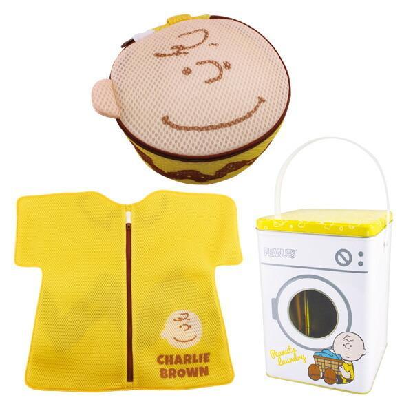 洗濯ネット セット WASH BAGセット SNOOPY スヌーピー チャーリーブラウン ピーナッツ ( ランドリーネット ブラネット 平型ネット 缶 )