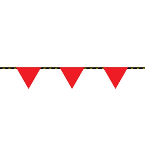 トラロープ 無地フラッグ標識付き 20m