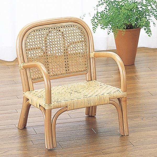 子供いす ラタン ローチェア 籐家具 座面高20cm( 子供部屋 木製 ベビーチェア 椅子 いす チェアー 子供用 こども用 子ども用 キッズ )