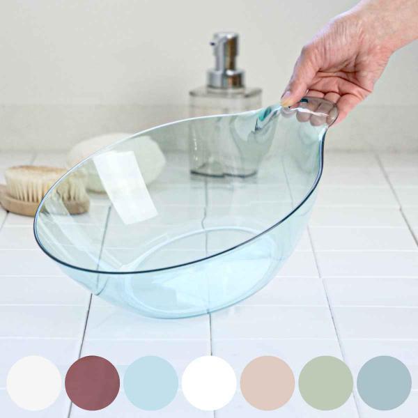 洗面器 風呂桶 湯おけ karali カラリ HG ( 湯桶 風呂おけ クリア )