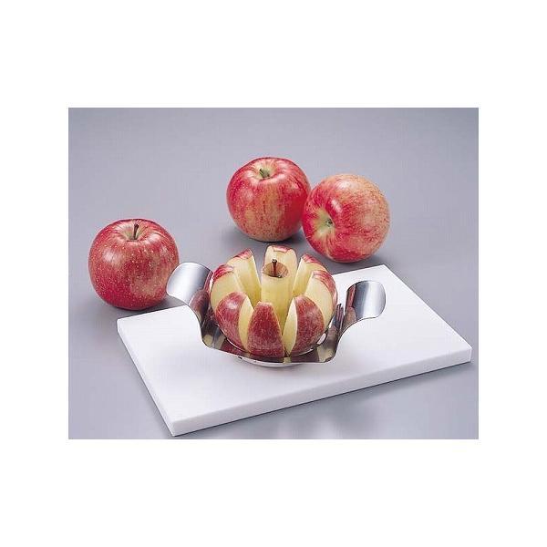 アップルカッター リンゴ カッター ステンレス製 キッチン 便利グッズ ( りんごカッター リンゴカッター 林檎カッター )