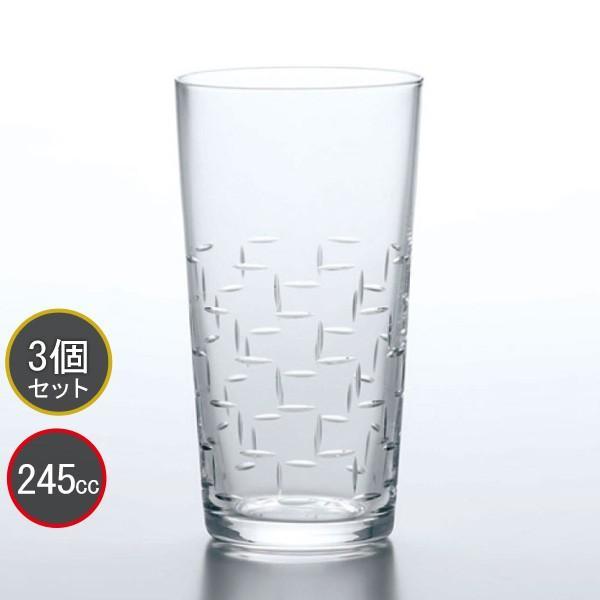 東洋佐々木ガラス和紋わもんタンブラー段つなぎ柄3個セットT-20204-C730