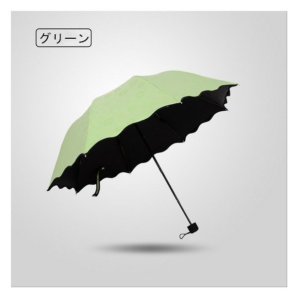 日傘 雨傘 UVカット 晴雨兼用傘 遮光 遮熱 軽量 涼しい 花柄 紫外線カット 紫外線対策 傘 折り畳み傘 レディー 雨具 3段折りたたみ式|liz-store|02